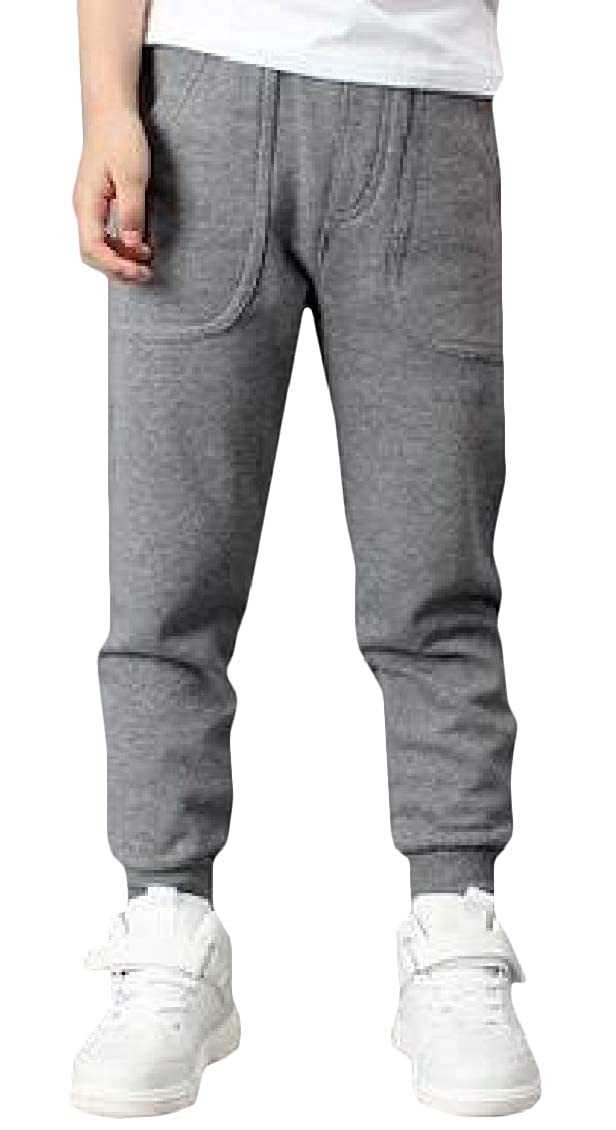 Hajotrawa Boys Casual Sweatpants Cotton Loose Trousers Jogger Pant