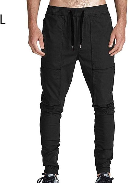 P Harem Pantalones – Pantalones de Chino a la Moda de algodón para ...