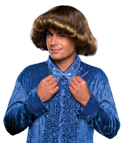 Rubie's 70's Prom King Wig, Brown, One Size
