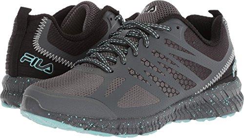 - Fila Women's Memory Speedstride Trail Running Shoe, Dark Shadow/Black/Aruba Blue, 8.5 Medium US