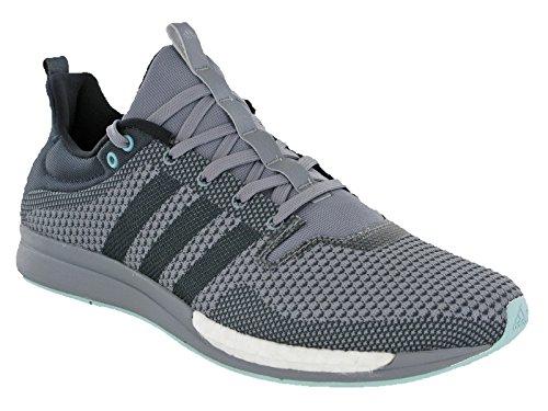 adidas Zapatillas de Running de Malla Para Hombre Gris Gris