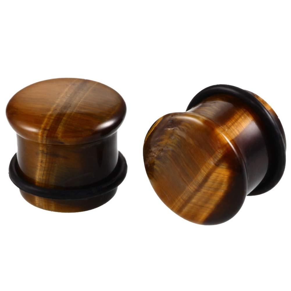 Amazon.com: Yantu - dilatadores de oreja con forma de piedra ...
