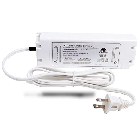 LEDUPDATES 12v 50w LED Light Power Supply 4 16A Triac Dimmable driver for  Standard Wall AC Dimmers ETL LISTED