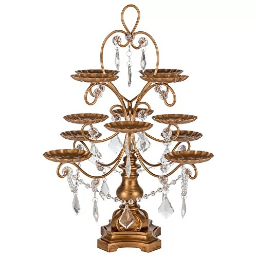 12 Piece Cupcake Holder with Dazzling Crystals Draped by House of Hampton