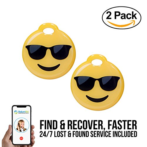 Smart Emoji Tag with Lifetime Recovery Service – Web-enabled, ID Safe - 2 - Shipping Sunglasses Overnight