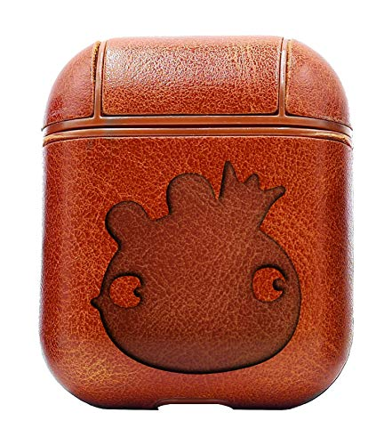 Bird Headlight King Pig (Vintage Brown) Air Pods Protective Leather Case Cover - a New Class of Luxury to Your AirPods - Premium PU Leather and Handmade exquisitely by Master Craftsmen ()