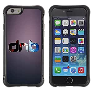 Hybrid Anti-Shock Defend Case for Apple iPhone 5C Inch / Cool DNB Drum & Base