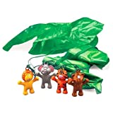 Fun Express Zoo Jungle Animal Paratrooper Toy (4 Dozen)