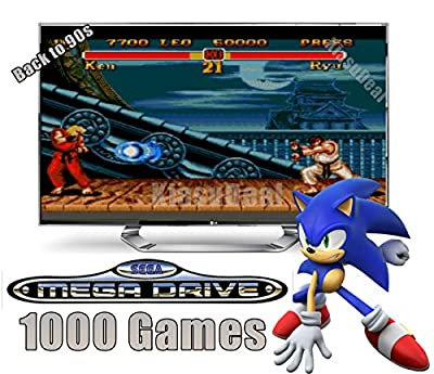 1k Games SEGA Mega Drive Game Console With Wired Joysticks And 1,000 Games Genesis Megadrive