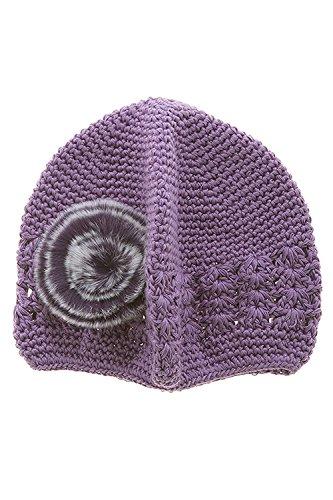Furry Cat Costume Uk (TRENDY FASHION JEWELRY FURRY POM POM BABY KNIT BEANIE BY FASHION DESTINATION | (Purple))