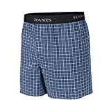 Hanes Boys' Yarn Dye Boxer Comfort Flex Waistband 3-Pack_Assorted_L