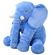 Big Soft Baby Elephant Plush Toy – Stuffed Elephant Cushion Doll Toy for Kids – Perfect Gift for Baby Shower, Birthdays, Children, Grand Sons/Daughters - Grey