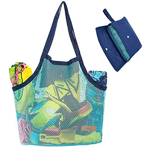 Beach Mesh Tote Bag Toys Beach Bag Perfect for Holding Childrens' Toys (Xl Size)