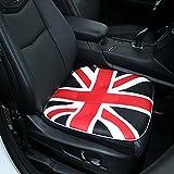 Car Seat Cushion,Comfort PU Leather Car Seat Pad Union Jack Seat Cover Pad