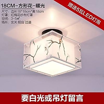 ANGEELEE La création d'une nouvelle lumière au plafond du couloir de transport en commun conduit carré Hyun lights off entrée légère couche d'espace de stockage, lampes