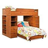 South Shore Furniture Complete Loft Bed, Logik/Sand Castle Collection, Sunny pine