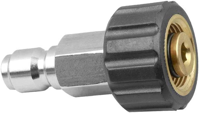 Pressure Washer Cleaner Quick Connect Twist 3//8 Nipple Plug X 22mm Coupler