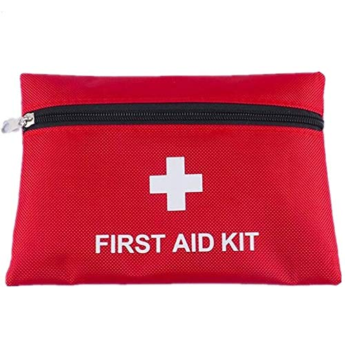 Jipemtra Medical Small First Aid Kit Empty First Aid Pouch Small for Hiking Backpacking Camping Travel Car Cycling Protect Your Supplies Be Prepared for All Outdoor Adventures (Red with 1680D) by Jipemtra