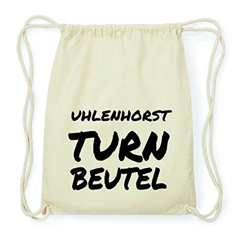 JOllify UHLENHORST Hipster Turnbeutel Tasche Rucksack aus Baumwolle - Farbe: natur Design: Turnbeutel