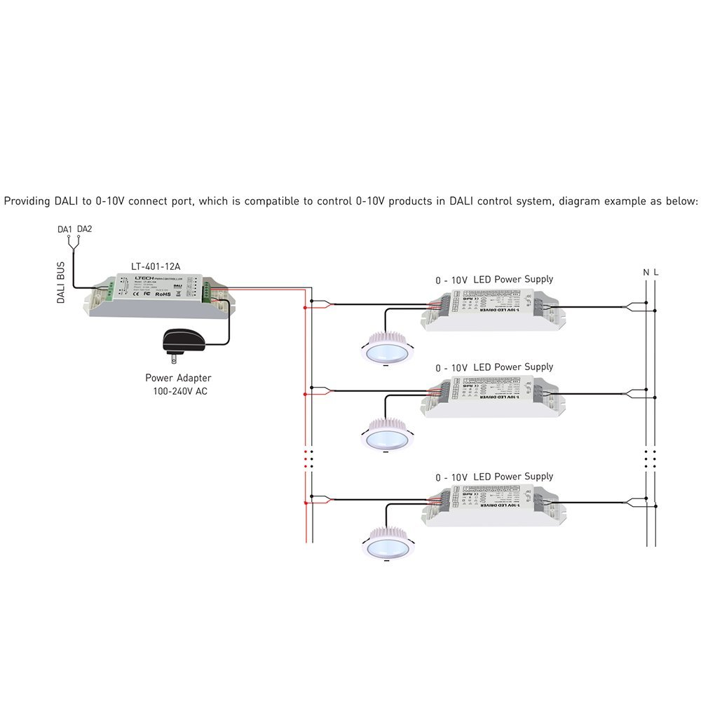 Ledbuy360 Dali Led Dimmable Driver Dimming Signal To Pwm Dimmer 010v Connection Diagram 12a