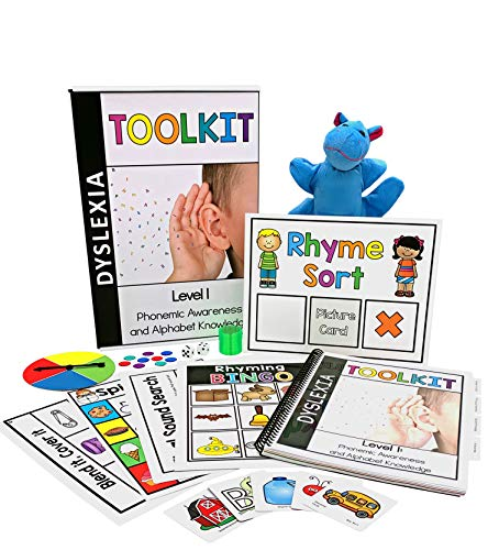 Dyslexia Toolkit | Best Tool Kit for Teaching Kids Phonemic Awareness & Alphabet Knowledge | Flash Cards, Games & Book for Home & School | Preschool, Kindergarten, 1st Grade & Up Reading Curriculum by PDX Reading Specialist (Image #2)