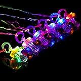 6PCS Colorful Flash Led Whistle Nipple-Type Flash