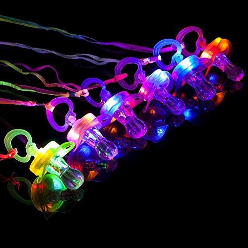 BAOQISHAN 6PCS Colorful Flash Led Whistle Nipple-Type Flash Whistle Suitable for Activities in KTV and Bar Concert Tools for Cheering for Sports Events -