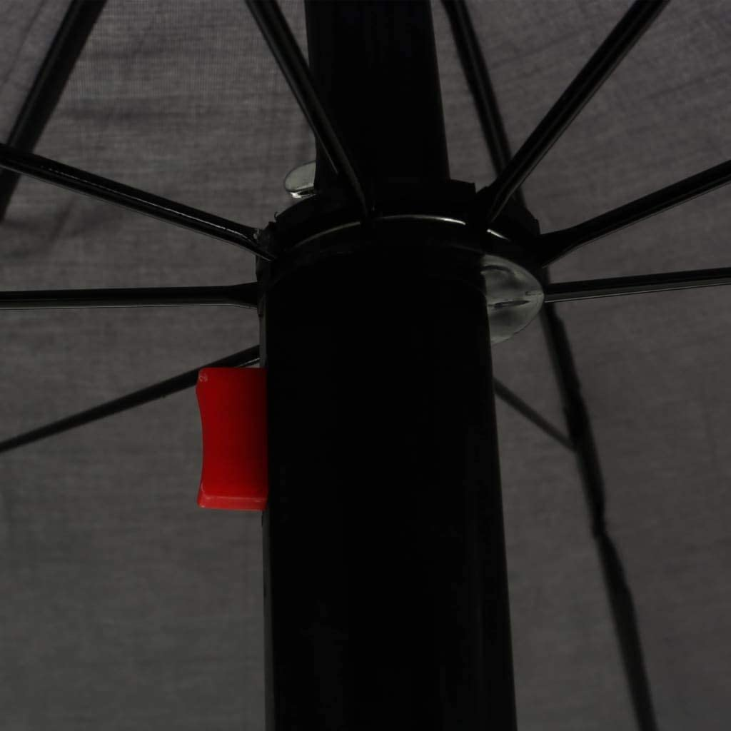vidaXL Sonnenliege mit Sonnenschirm Doppelliege Gartenliege Relaxliege Liege Liegestuhl Gartenm/öbel Rattanm/öbel Sonnenbett Poly Rattan Grau