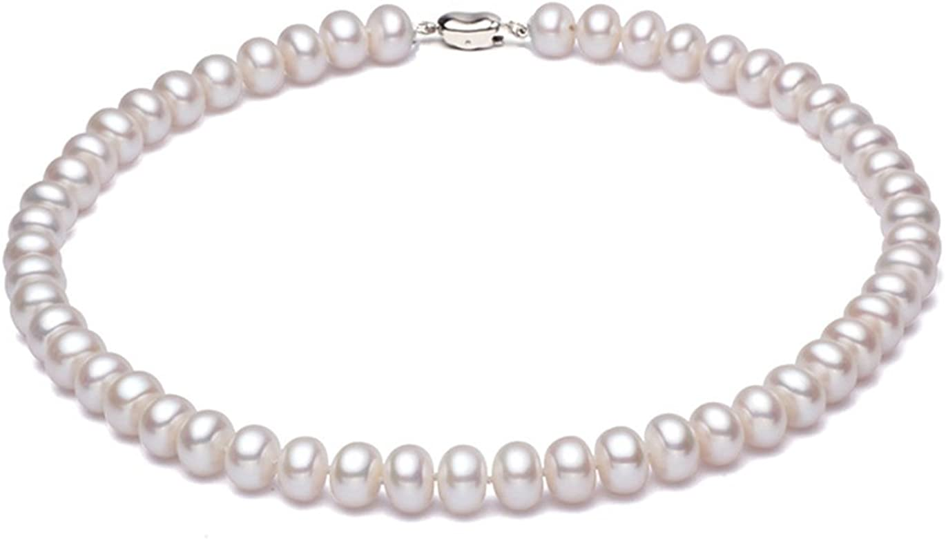 """AAA 8-9mm Genuine Natural White Akoya Cultured Pearl Jewelry Necklace 50/"""""""