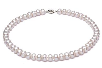 correspondant en couleur gamme complète de spécifications comment commander JYX collier perle blanche d'eau douce cultivé blanc collier perle de  culture Classic à 18 pouces