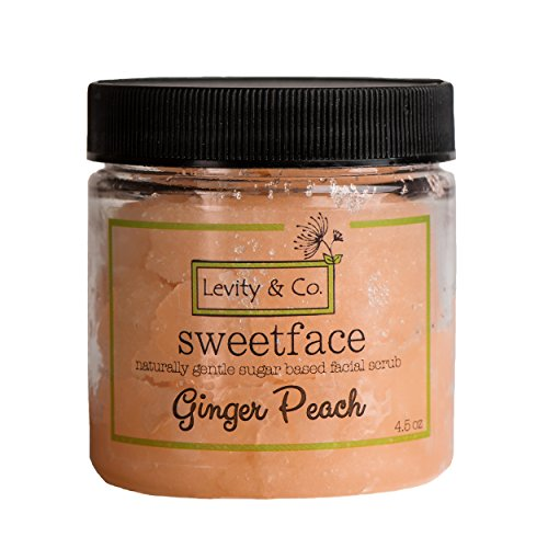 Levity & Co. Sweet Face Sugar Scrub. Anti-Aging, Deep Cleaning for Acne Prone Faces, Exfoliates Dead Skin Cells, Regenerates & Brightens. Deeply Exfoliating Facial, Neck & Décolleté Treatment -