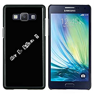 EJOOY---Cubierta de la caja de protección para la piel dura ** Samsung Galaxy A5 A5000 ** --Por qué tan serio