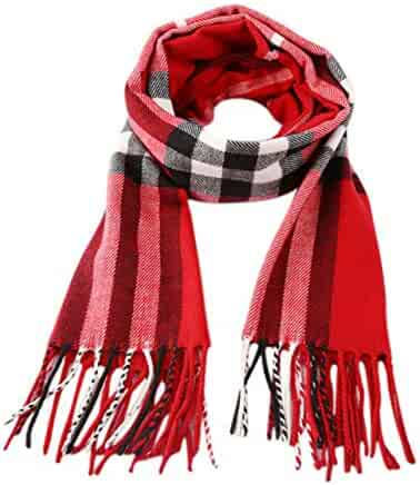 Kids Winter Rainbow Scarf Gradient Cross Tie Collar Fluffy Fur Plush Shawl Wrap Neck Warmer for Toddler Girls Boys