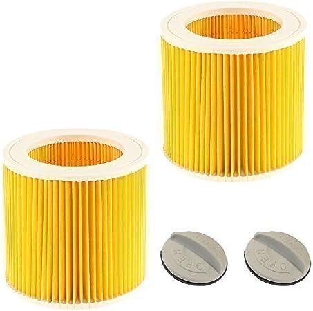 Confezione da 2 Cartuccia Filtro Fit KARCHER wd2.200 wd3.500 Wet /& Dry Aspirapolvere
