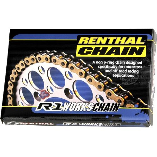Renthal Chain - Renthal 520 R1 Works Non O-Ring Offroad Chain 120 Link