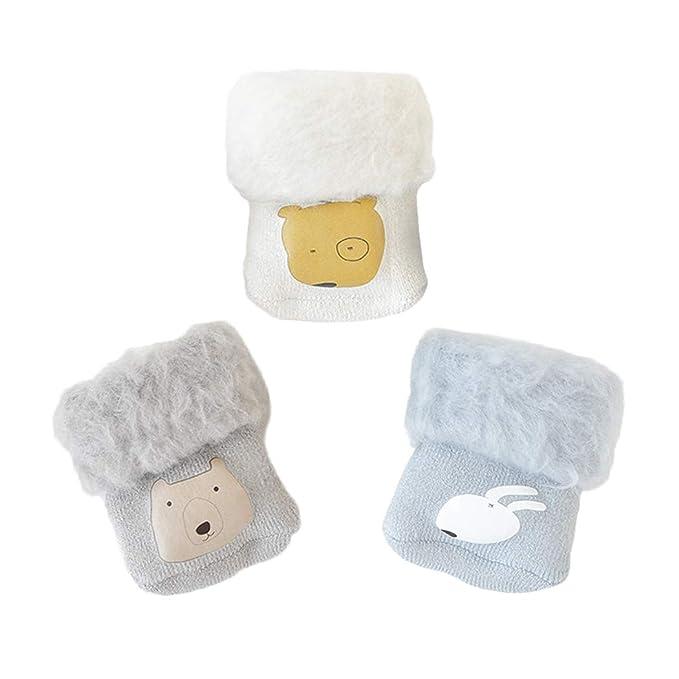ANIMQUE Bebé recién nacido calcetines de invierno con forro térmico ...