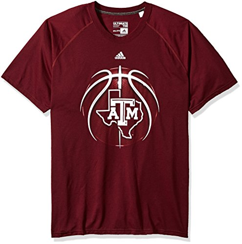 - adidas NCAA Texas A&M Aggies Mens Light Ball Ultimate S/Teelight Ball Ultimate S/Tee, Maroon, XX-Large