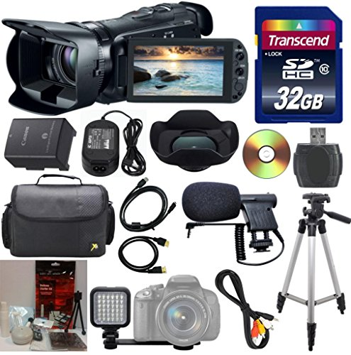Canon VIXIA HF G20 HD Camcorder 33rd Street Bundle with HD CMOS Pro and 32GB Internal Flash Memory + 32GB High Speed Memory Card + High Power LED Light + Deluxe Camera Case + Full Size Tripod + Professional Microphone + Commander Starter Kit + 10pc Bundle Kit