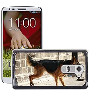 Hot Style Cell Phone PC Hard Case Cover // M00110028 German Shephard Dog Canine Pet // LG G2 D800 D802 D802TA D803 VS980 LS980