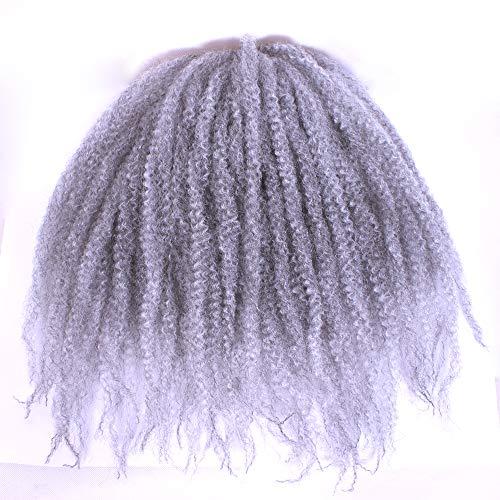 18 pulgada (100 G Afro crépus rizado Twist Cabello gancho trenzas Marley Braid extensión de cabello sénégalais Twist gancho Trenzado Cabello Cabello ...