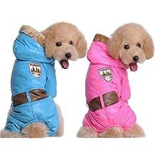 QIYUN.Z Outdoor Waterproof Pet Dog Puppy Winter Coat Jacket Snowsuit Small Medium Large Dogs Animaux