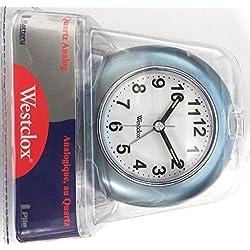 Westclox 49656 Quartz Analog Alarm Clock Blue