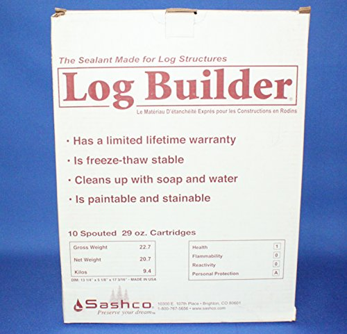 Sashco Log Builder Log Caulking 29 oz Tubes Case 10 - Woodtone