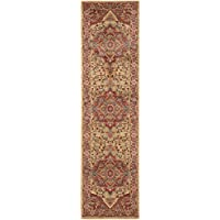 Safavieh Mahal Collection MAH698A Red and Natural Runner, 22 x 18