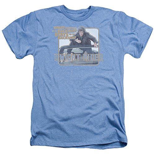 Trevco Unisex Knight Rider Back Seat Adult T-Shirt, Large