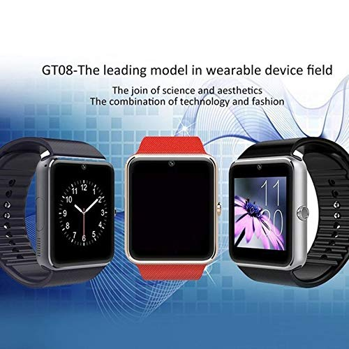 Functy Reloj Inteligente GT08 con Funciã³n de Cã¡Mara Pulsera Bluetooth Hombre Reloj de Pulsera: Amazon.es: Relojes