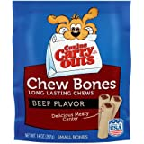 Cheap Canine Carry Outs Chew Bones Beef Flavor Long-Lasting Dog Snacks, Small Bones, 14 oz