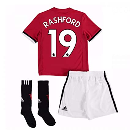 f0282862e71 Image Unavailable. Image not available for. Color: UKSoccershop 2017-18 Man  United Home Mini Kit (Marcus Rashford 19)