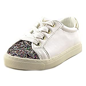 upc 888833807177 product image for Naturino Express Gianna Girls Fashion Sneaker with Zipper 6 White Glitter | barcodespider.com