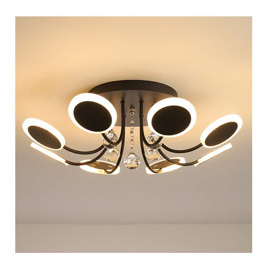 $天井灯 シーリングライト - モダンファッションシーリングランプクリスタルアクリルLED調光対応リビングルームの装飾寝室ホテルオフィスの照明[エネルギークラスA ++] [エネルギークラスA +] (Color : Warm light, Size : 8 heads) 8 heads Warm light B07STMSWJB